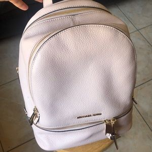 Medium light pink Michael Kors leather book bag